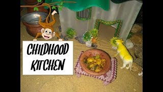 PRAWN PEPPER FRY/Tiny cooking in kids Kitchen set...
