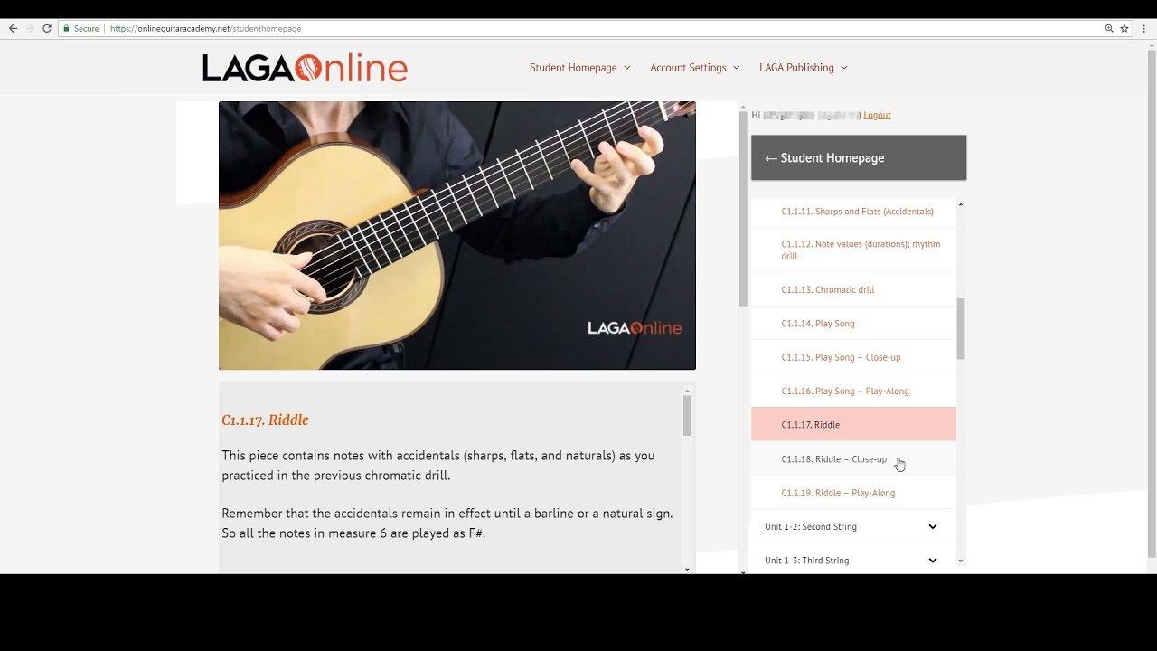 LAGA Student Homepage Tour