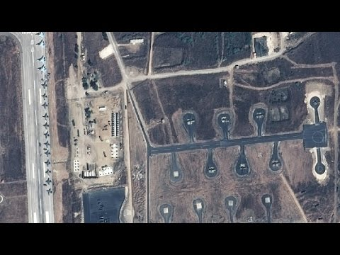 Satellite Image Analysis of Russia's Military Buildup in Syr
