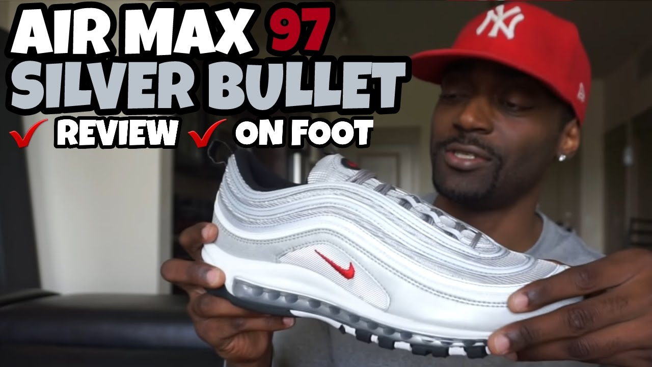 c7a3fdeec218c4 AIR MAX 97 SILVER BULLET REVIEW   ON FOOT - YouTube