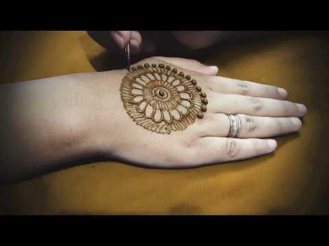 Mandala (Circle) style Flower Henna design or mehndi design | latest 2017 | Step by step tutorial 2