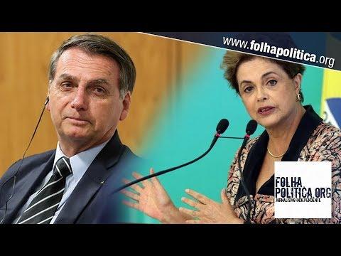 Bolsonaro retruca ataques de Dilma e humilha jornalistas do grupo UOLFolha de S Paulo