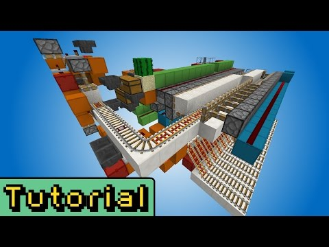 Minecraft Tutorial: The Ultimate Minecart Station.