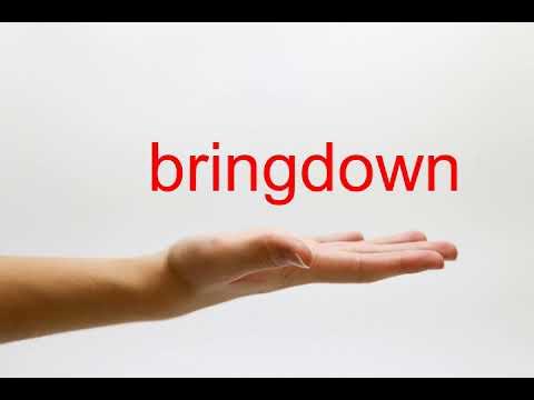 How to Pronounce bringdown - American English