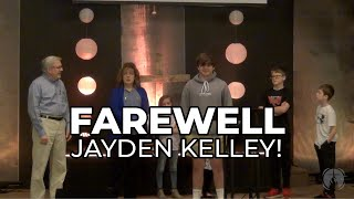 Farewell Jayden!