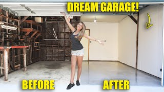 Building my DREAM GARAGE behind My NEW HOME! pt 1