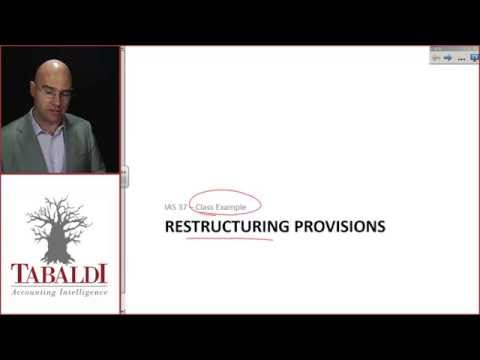 IAS 37 - Restructuring Provisions Class Example