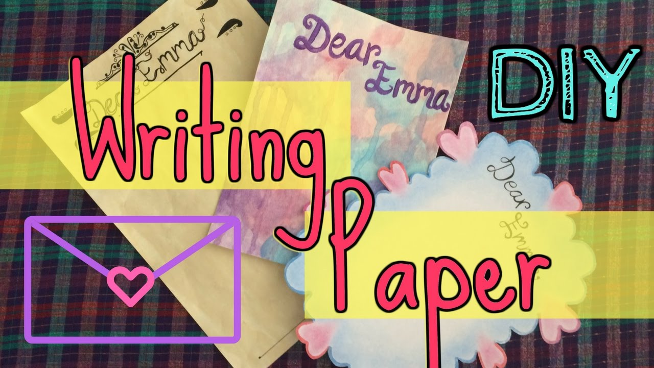 Diy Writing Paper  Letter Design Ideas   Youtube