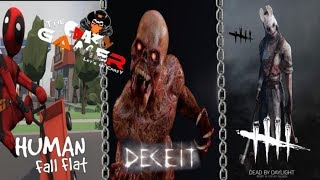 Human Fall Flat | Deceit | Dead by Daylight | FUNNY Game Play -  Live Stream