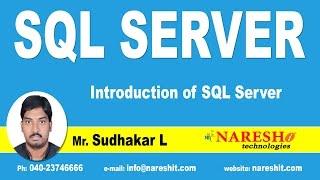 Introduction of SQL Server | SQL Server Tutorial