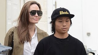 Angelina Jolie Takes 15-Year-Old Pax To Buy A $900 Sweatshirt At YSL