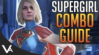 Injustice 2 - Supergirl Combos! Easy Combo Guide For Beginners In Injustice 2