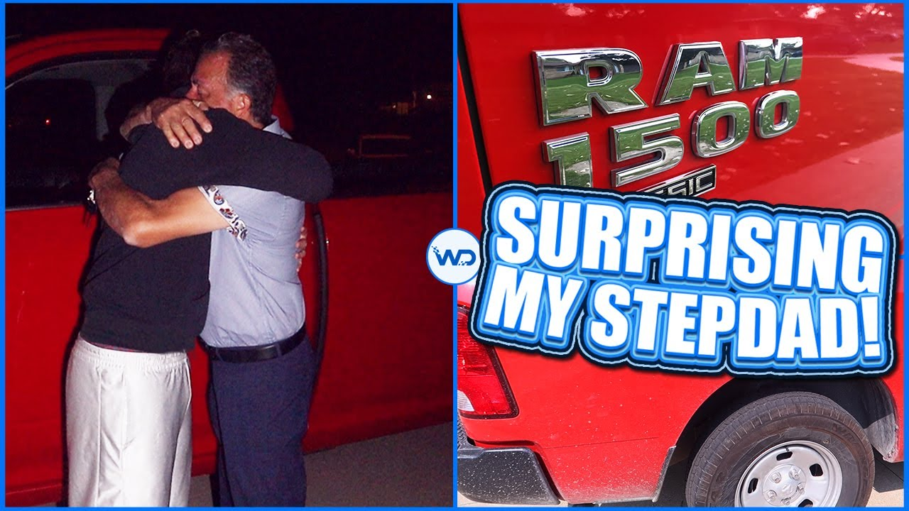 Stealing My Stepdad's FILTHY Work Truck & Surprising Him With A Detail To Celebrate Beating Cancer!