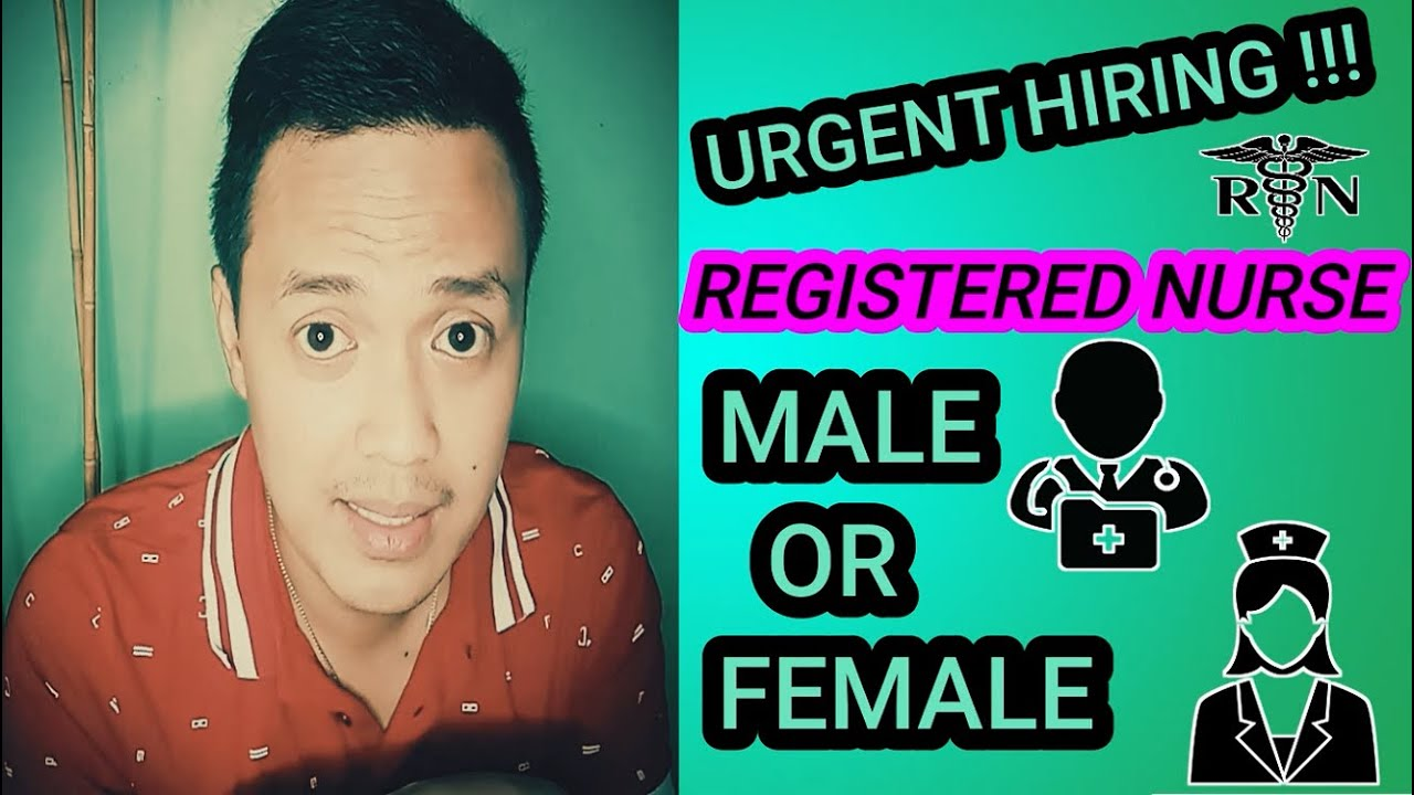 URGENT HIRING REGISTERED NURSE (APPLY NA!) - YouTube