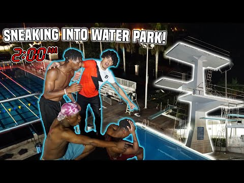 WE SNUCK INTO A CLOSED WATERPARK! **We Jumped Off OLYMPIC Diving Boards**