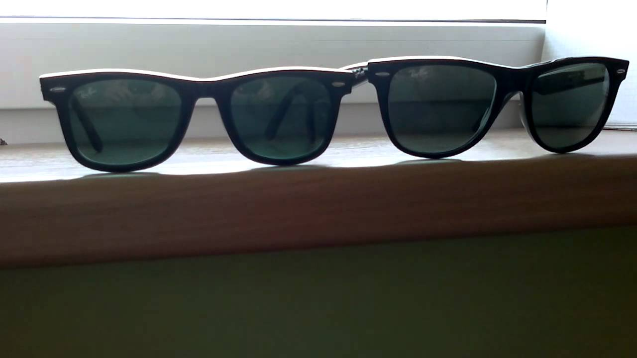 028b1cbe341 Ray-Ban Wayfarer 2140 size comparison (50 mm vs 54 mm) - YouTube
