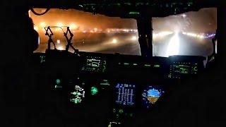 C-17 Takeoff & Landing At Night • Cockpit View