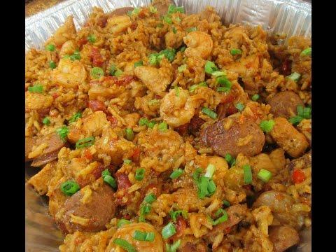 Shrimp Chicken And Sausage Jambalaya