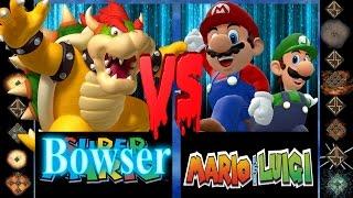 Bowser (Nintendo) vs Mario and Luigi (Nintendo) - Ultimate Mugen Fight 2016