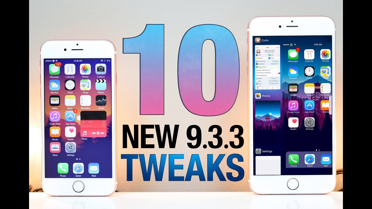 10 NEW iOS 9.3.3 Jailbreak Tweaks! GREAT NEWS !!!