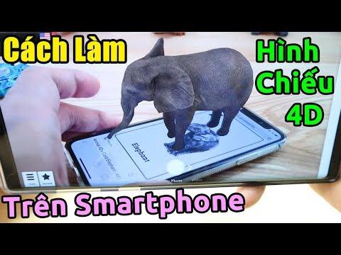 Hướng dẫn tạo hình 4D trên điện thoại đang HÓT trên mạng   Animal 4D