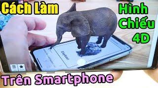 Hướng dẫn tạo hình 4D trên điện thoại đang HÓT trên mạng | Animal 4D