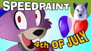 FNAF Speedpaint - 4th of July! - Watch Me Draw! [Tony Crynight]
