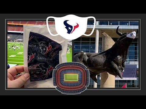 NRG Stadium - COVID, Attending First Texans 2020 Home Game with Fans - Masks, Social Distancing