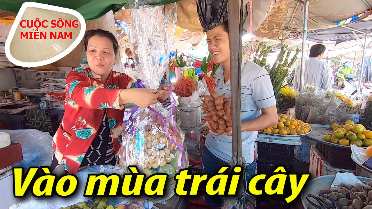 Đi chợ Cai Lậy mùa trái cây #namviet
