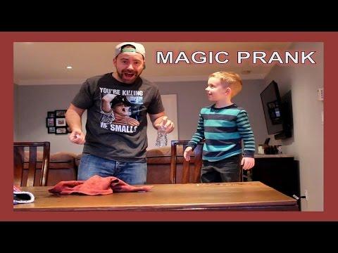 MAGIC TRICK PRANK ON RYAN AND JOHN