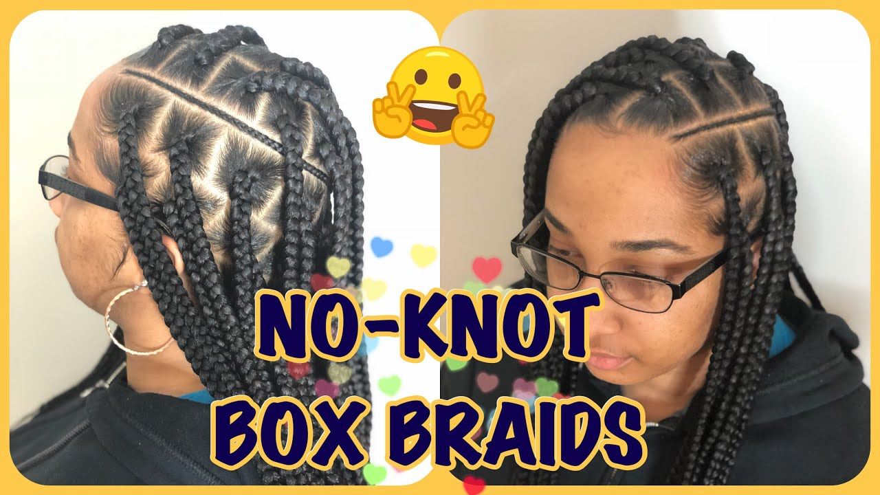 56. KNOTLESS BOX BRAIDS TUTORIAL , feedin box braids