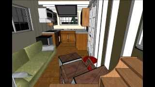 Tiny House Design With End Kitchen