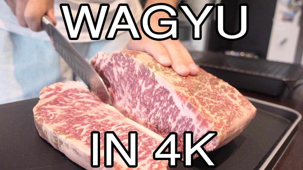 Cooking 9 Marble Score Wagyu Sirloin Steak In 4k 12