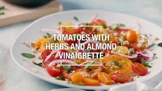 Tomatoes with Herbs and Almond Vinaigrette | 40 Best-Ever Recipes | Food & Wine
