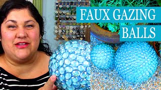 DIY Faux Gazing Balls with Smoothfoam