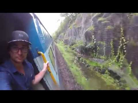 Indian Railway Train - Mumbai to Goa (Monsoon Season)