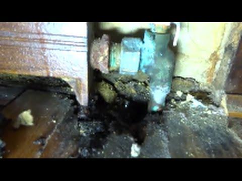 hydronic heating castiron baseboard leak fixed - YouTube