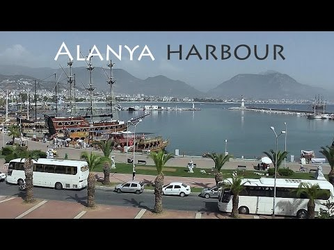 TURKEY: Alanya harbour & eastern beach [HD]
