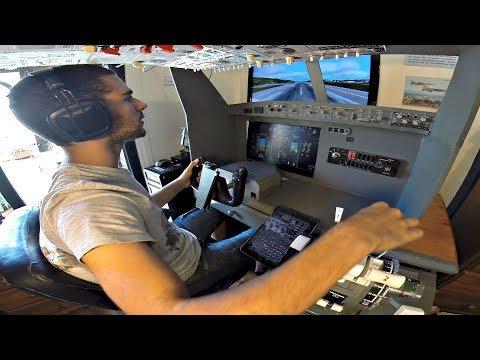 PMDG 737 Home Cockpit | Thessaloniki to SKIATHOS Full Flight | Low Shortfield Landing | GoPro (P3D)