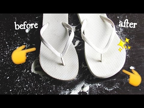 f4334e04d858 D.I.Y- How to clean those DIRTY flip flops for Spring  Summer - YouTube