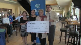 John Williams visits Pinstripes in Oak Brook on the Allstate Hometown Voices Tour