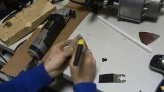 Тест реноватора Энкор МФЭ-400Э работа с камнем, деревом, пластиком..м