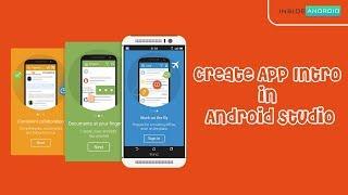 Create App Intro using libraries PART 1