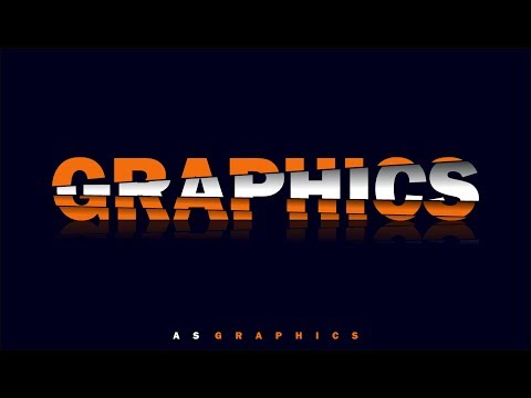 Slice Text Effect - Frist Time in | CorelDraw x7 by As Graphics