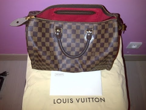 Comparaison vrai et faux sac louis vuitton speedy damier / Authentic and fake louis vuitton speedy