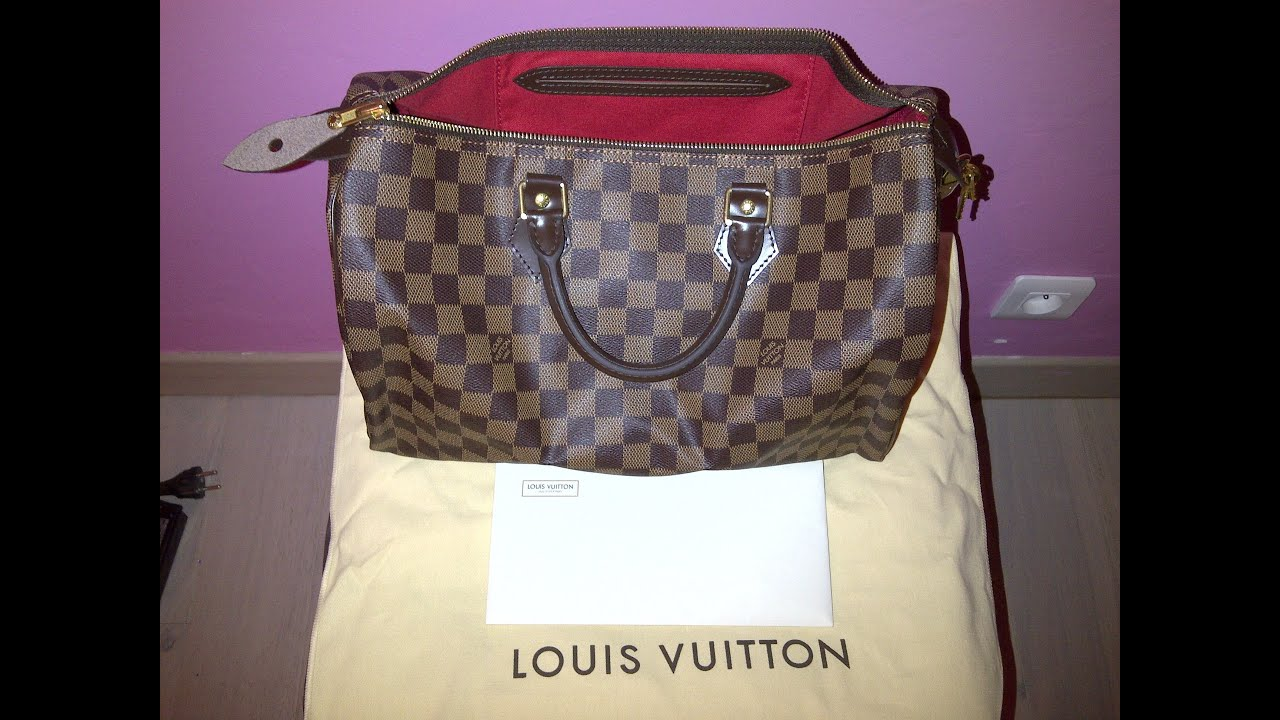 37d13d46c138 Comparaison vrai et faux sac louis vuitton speedy damier   Authentic ...
