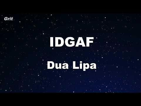 IDGAF - Dua Lipa Karaoke 【With Guide Melody】 Instrumental