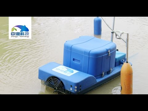 Automated Smart Shrimp Feeding Vessel - Tour Around the Pond