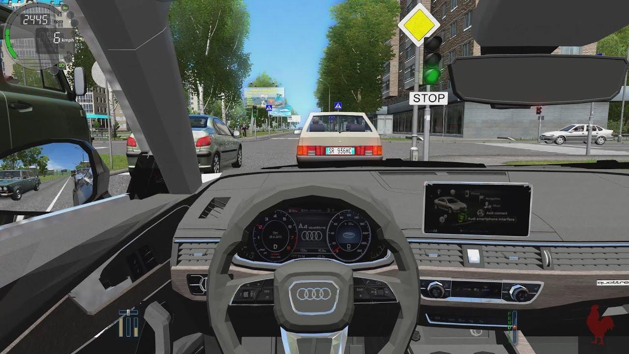 City Car Driving Audi A4 B9 Youtube