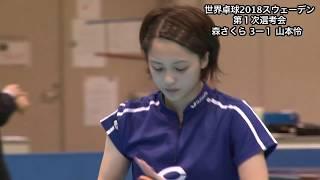 【ダイジェスト】世界卓球2018 女子日本代表第1次選考会 森さくらvs山本怜 山本怜 検索動画 23